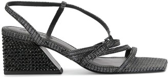 Mercedes Castillo Woven Block Heel Sandals