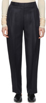 Victoria Victoria Beckham Navy Viscose Trousers