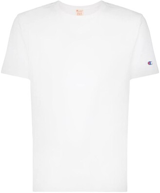 Champion logo embroidered short-sleeved cotton T-shirt