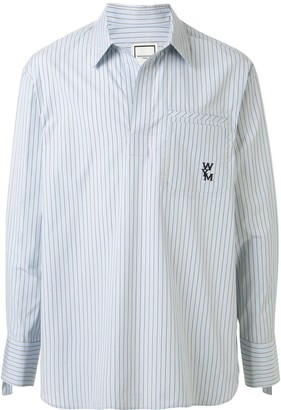 Wooyoungmi Striped-Print Long-Sleeved Shirt