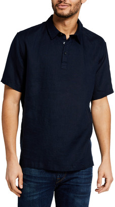 Vince Men's Linen Polo Shirt