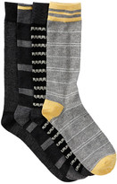 Lucky Brand Waves & Stripes Crew Socks - Pack of 4