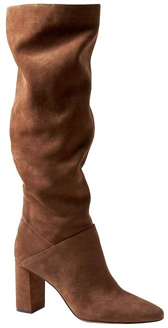 Banana Republic Suede Tall Slouchy Boot
