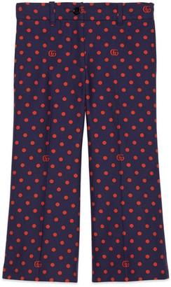 Gucci Children's polka dot cotton pant
