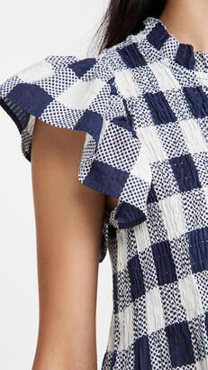 Sea Morgan Plaid Short Sleeve Smocked Tunic
