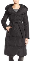 Eliza J Women's Belted Down Coat With Hood