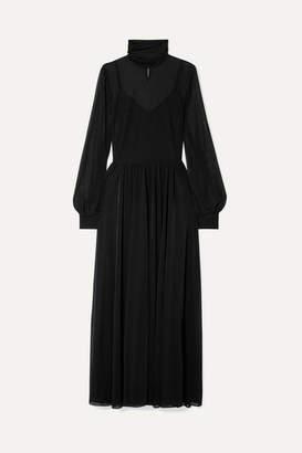 Diane von Furstenberg Jersey Turtleneck Maxi Dress - Black