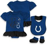 NFL Indianapolis Colts Size 18M 3-Piece Girl Creeper Bib and Bootie Set
