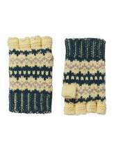 Burberry Knitted Fingerless Gloves, Forest