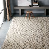 west elm Watercolor Trellis Wool Shag Rug - Ivory