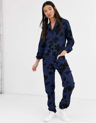 Rachel Antonoff stephen cow print boiler suit