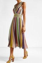 Missoni Striped Dress in Metallic