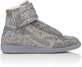 "Maison Margiela Men's Python-Print ""Future"" Ankle-Strap Sneakers-DARK GREY"