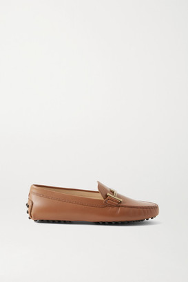 Tod's Gommino Doppia Embellished Leather Loafers - Tan