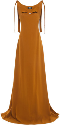 Rochas Tie-detailed Pleated Crepe Gown