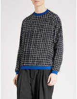 Haider Ackermann Checked silk sweatshirt