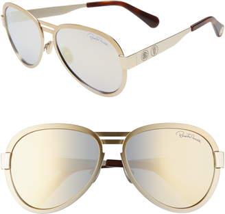 Roberto Cavalli 59mm Mirrored Aviator Sunglasses