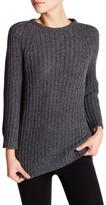 Alice + Olivia Chunky Marled Drop Hem Sweater