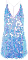Motel **Finn Deep V-Neck Sequin Slip Dress