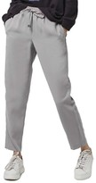 Topshop Women's Contrast Piped Ankle Zip Jogger Pants