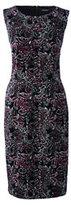Lands' End Women's Petite Ponte Sheath Dress-Black Paisley