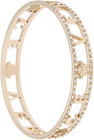 Versace logo embellished bangle