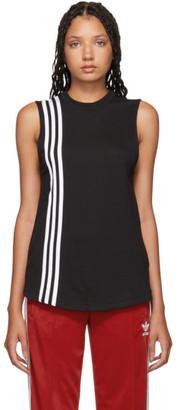 adidas Black 3-Stripe Muscle Tank Top