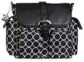 Kalencom Double Duty Back Pack Diaper Bag in Black Holes