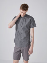 Frank + Oak The Short-Sleeve Odessa Chambray Shirt in Black