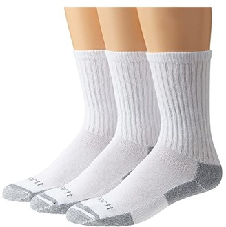 Carhartt Cotton Crew Work Socks 3-Pack (White) Men's Crew Cut Socks Shoes