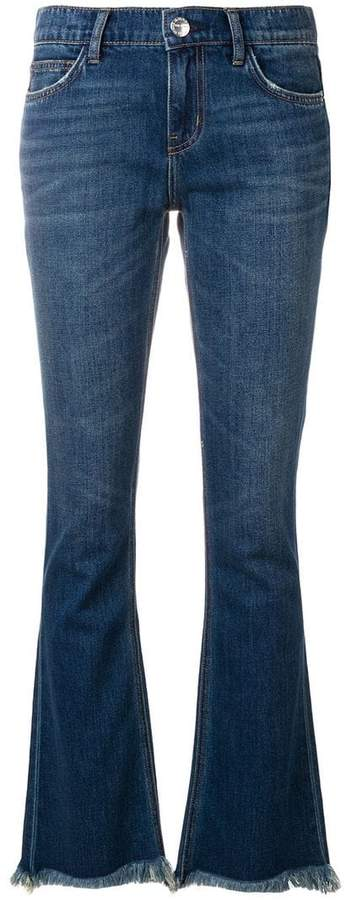 Current/Elliott frayed bootcut jeans