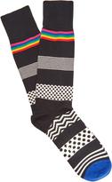 Paul Smith Polka-dot and striped cotton-blend socks