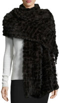 La Fiorentina Natural Mink Fur Stole, Dark Brown