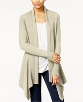 Bar III Ribbed Waterfall Cardigan, Only at Macy's