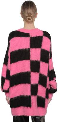 MSGM Checked Acrylic Blend Knit Dress