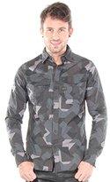 G Star G-Star Men's Rovic Long Sleeve Shirt with Snap Closure Placket