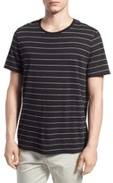 Vince Shadow Stripe Cotton Blend T-Shirt
