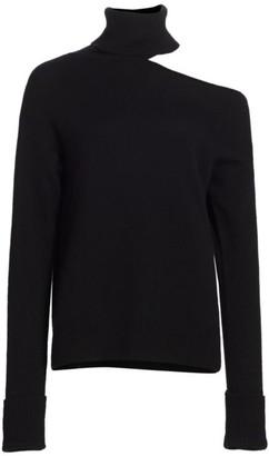 Paige Raundi Turtleneck Cutout Sweater