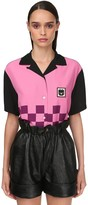 Miu Miu Printed Viscose Bowling Shirt