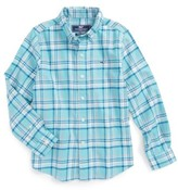 Vineyard Vines Toddler Boy's Loblolly Plaid Shirt