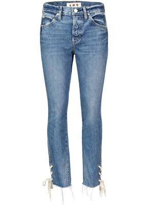 Amo Babe Lace-Up Straight Leg Jeans