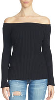 1 STATE Long Sleeve Off-the-Shoulder Sweater