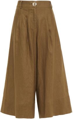 Nicholas Varca Pleated Linen Culottes