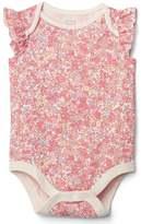 Gap Floral flutter bodysuit
