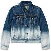Ralph Lauren Girls' Dip-Dyed Denim Jacket - Big Kid