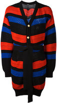 Balmain striped oversized cardigan