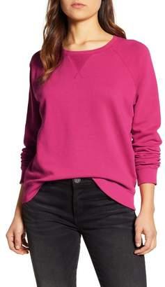 Lucky Brand Classic Crew Neck Raglan Sweatshirt