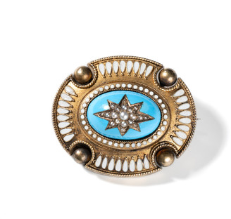 Windsor Jewelers 10k Yellow Gold Victorian Pearl Star Pin