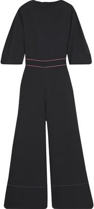 Roksanda Aria Bow-embellished Bonded Crepe Jumpsuit