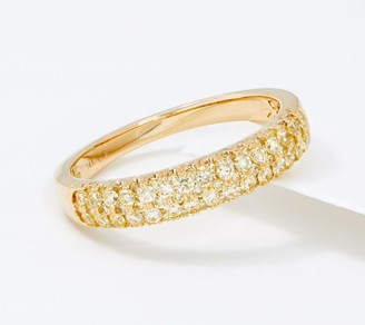 Affinity 14K Gold Natural Yellow Diamond Band Ring, 1/2cttw